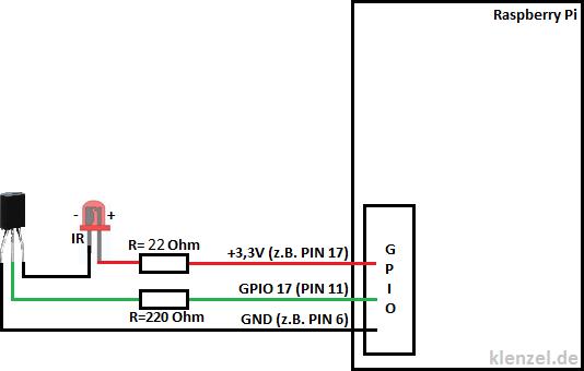 Anschlussschema-IR-LED